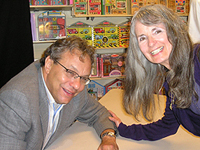 Janet Pfeiffer with Lewis Black